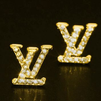 LV classic style brand earrings earrings