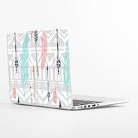 Feathers and Arrows Print Laptop Skin