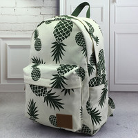 Pineapple Printed Backpack School Bookbag