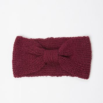 Knitted Bow Headwrap
