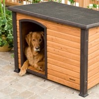 Precision Extreme Outback Log Cabin Dog House   www.hayneedle.com