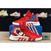 ADIDAS EQT x Champion joint model 2019 new mesh breathable casual sports shoes red