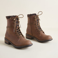 Heads or Trails Lace-Up Boot in Brown