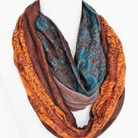 Colorful Cotton Long Scarf, Camel, Gift