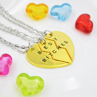 Broken Heart Parts Pendant Necklace = 1838896516