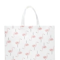 Flamingo Print Shopper Tote