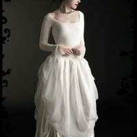 Ivraie Fairy Wedding Gown in Velvet Custom Elegant by rosemortem