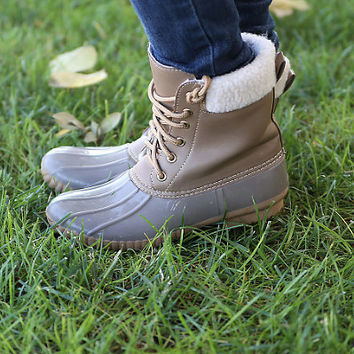 Taupe Ducks Boots