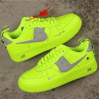 Nike Air Force 1 07 Lv8 Overbranding Volt/ White Shoes - Best Online Sale