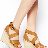 New Look | New Look Step Strappy Wedge Sandals at ASOS