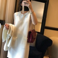"""Louis Vuitton"" Women's Leisure Fashion Letter Print Sleeveles Long Trousers Two-Piece Casual Wear"