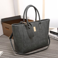 Ladies Bags Leather Winter One Shoulder Tote Bag [6582897799]