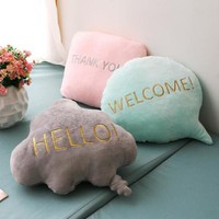 Cute Chat Bubble Throw Pillow