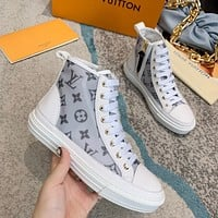 Wearwinds LV 2020 new high-quality side zipper high-top sneakers shoes