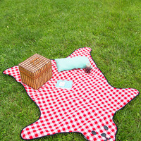 ModCloth Quirky Bear and Wine Picnic Blanket
