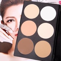 New Pro 6 Colors Makeup Cosmetic Blush Blusher Contour Highlight Shadow Palette [8096940679]