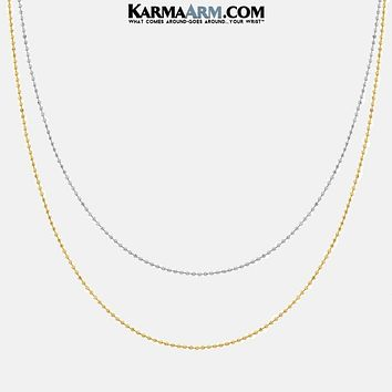 Necklace | Stainless Steel | Ball Chain | Gold