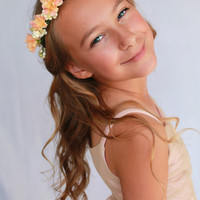 "Bridesmaid/Flower Girl Crown: ""Flora"""