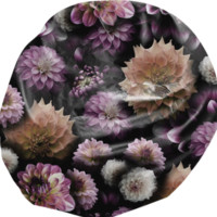 Cream and Lavender Dahlias Bean Bag Chair created by Blooming Vine Design | Print All Over Me
