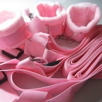 Fun Under Bed Restraint with Cuffs Kit (Pink) By Sweet Love ♥ Tm