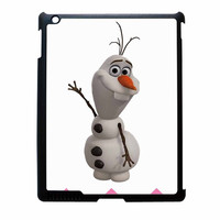 Olaf Disney Frozen Blue Pink Chevron iPad 3 Case