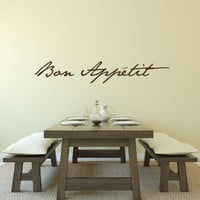 Bon Appetit - Bon Appetit Sign - kitchen decor - Kitchen Wall Decor - Kitchen Signs - Wall Decals - Wall Decor - Wall Stickers - Wall Art
