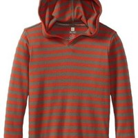 Tea Collection Little Boys' Stripe Happy Hoodie, Olive Drab, 5