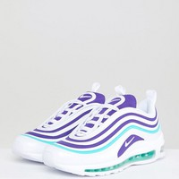 Nike Air Max 97 Ultra Trainers In White And Purple at asos.com
