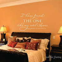 Song of Solomon Vinyl Wall Decal - Scripture Wall Decal- I have found the one Bedroom Decal- Wedding Decal Gift