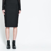 SKIRT WITH CONTRASTING WAIST