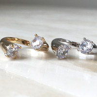 Crystal Double Wrap Ring