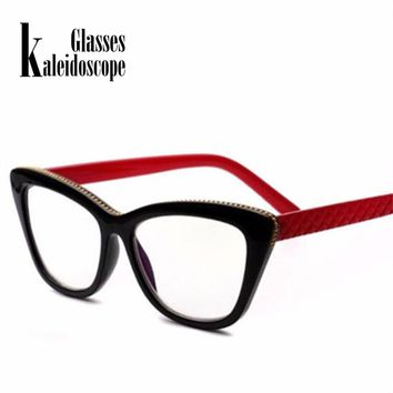 Kaleidoscope Glasses  Women Double light Reading Glasses Cat Eye Glasses for Reading Hyperopia Presbyopia Eyewear Diopter