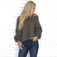 Baby It's Cold Outside Knit Sweater