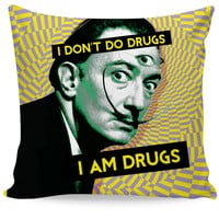 Salvador Dali on Drugs Couch Pillow