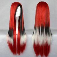 Best Quality Perucas Cosplay Long Synthetic MIX COLOR Lolita Cosplay Wigs,Colorful Candy Colored synthetic Hair Extension Hair piece 1pcs WIG-286C