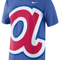 Atlanta Braves MLB Nike Royal Coop Big A** Logo T-Shirt