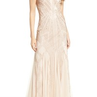 Adrianna Papell Beaded Gown (Regular & Petite)   Nordstrom