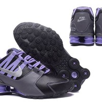 Nike Black/Purple Shox Avenue Women's Shoes