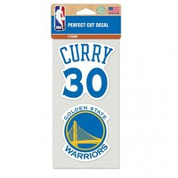 Golden State Warriors Steph Curry 4x4 Decal - 2pk