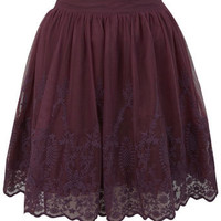 Embroidered Hem Mini Skirt - View All  - New In