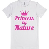 Princess By Nature Fitted T-Shirt-Female White T-Shirt