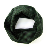 Kids Flannel Scarf Childs Holiday Scarf Toddler Scarf Girl Scarf Boy Scarf Winter Scarf Green Black Holiday Gift Ready to Ship