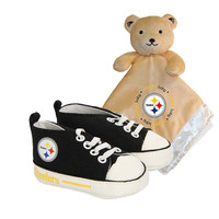 Pittsburgh Steelers NFL Infant Blanket and Shoe Set