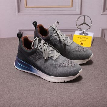 LV Men Fashion Boots  fashionable casual leather  Breathable Sneakers Running Shoes Sneakers