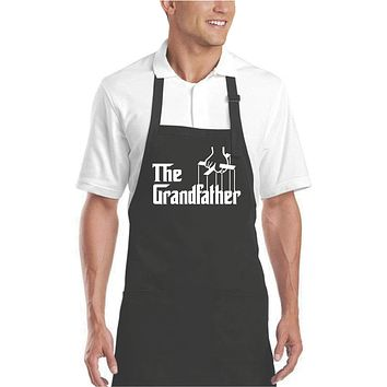The Grillfather - BBQ Grill Apron for Men - Black - Our T Shirt Shack