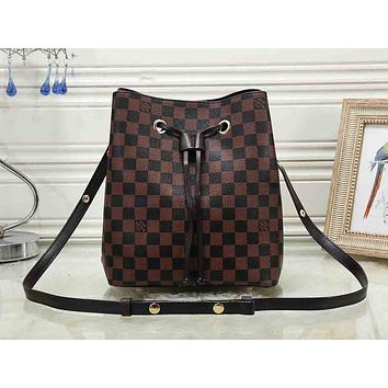 LV hot selling lady's casual shopping bag fashion printed bucket shoulder bag #2