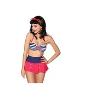 Beach New Arrival Swimsuit Hot Summer High Rise Vintage With Steel Wire Sexy Stripes Swimwear Bikini [6532726151]