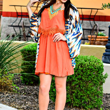SOUTHWEST SOUL DRESS IN RUST