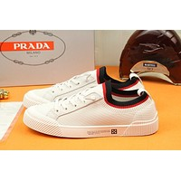 prada men fashion boots fashionable casual leather breathable sneakers running shoes 83
