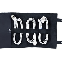Leather Cordito Cord Wrap, Navy, Other Lifestyle Accessories